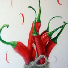 «Перцы» оформление кухни