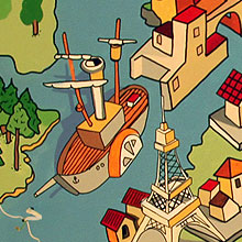 «Карта мира» роспись потолка в детской