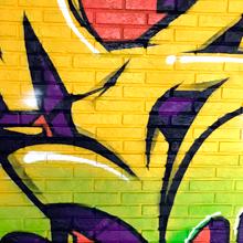 Граффити-оформление в комнате